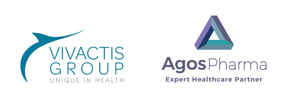 Vivactis and Agos Pharma logos